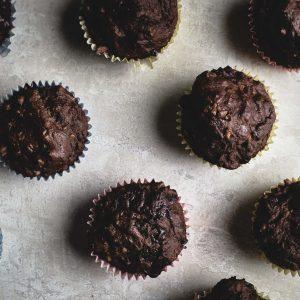 Vegan Chocolate & Banana Muffins